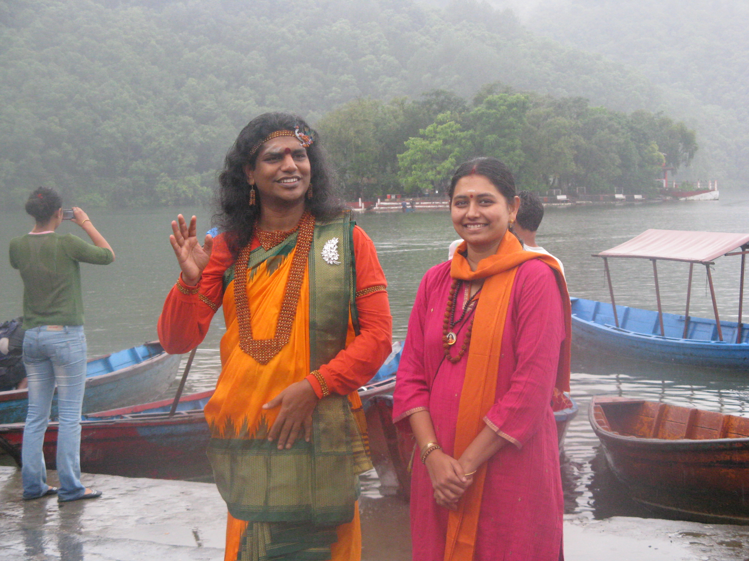 Sumitra with Swami